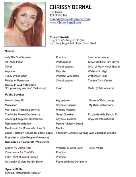 Modeling Resume Template by Model Resume Template Health Symptoms And Cure