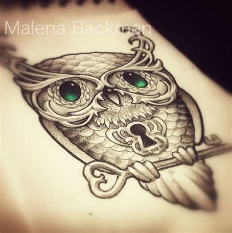 owl tattoo with lock and key meaning owl lock key tattoos pinterest