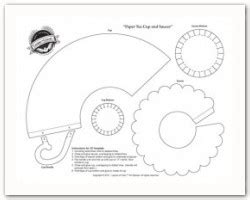 pop up coffee cup card cutout template this tea cup and saucer template from layers of color will