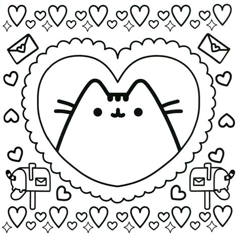 yuff s stuff a kawaii coloring book of chibis and books kawaii pusheen coloring pages get coloring pages