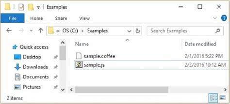 node js coffeescript tutorial coffeescript quick guide