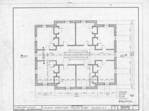 second floor plan fourth dormitory raleigh north