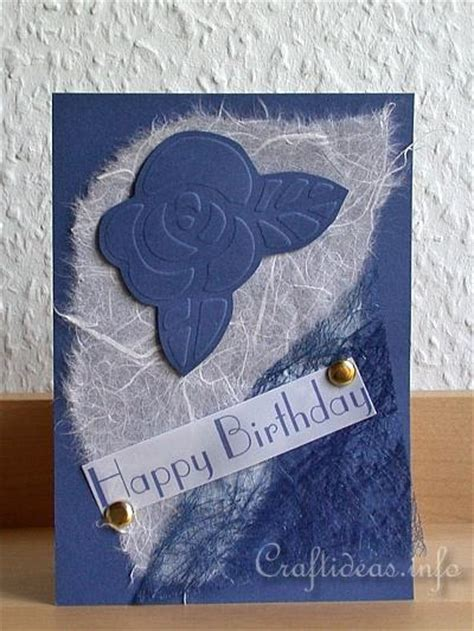 Embossed Birthday Card Ideas Craft A Birthday Or Greeting Card Quot Blue Rose 2 Quot