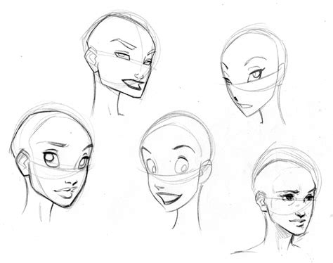 disney hairstyles drawing disney style character concept art faces and expressions