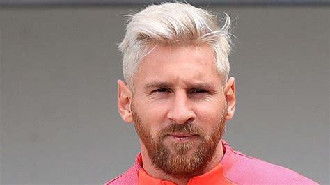 gentlemen prefer blond lionel messi follows trend and