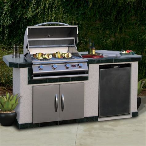 cal lbk710 outdoor bbq island with 4 burner grill