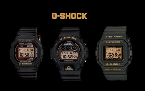 Gshock Line Black Gold casio g shock 30th anniversary black gold series