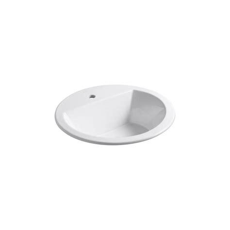 kohler drop in sinks kohler bryant drop in bathroom sink in white k 2714 1 0