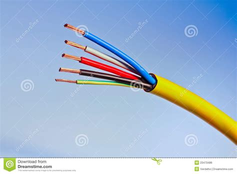electrical conductors pictures electrical cable with copper conductors shown royalty free stock image image 23473486