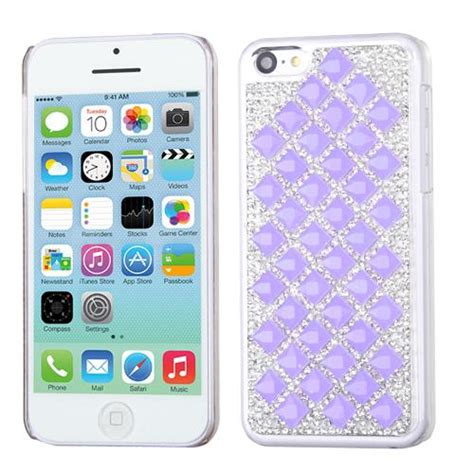 Iphone Iphone 5 5s In Purple Cat Cover apple iphone 5 5s purple desire back
