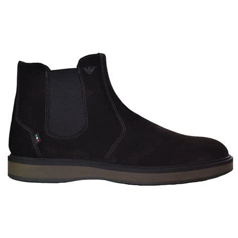 mens armani boots armani s brown after chelsea boot