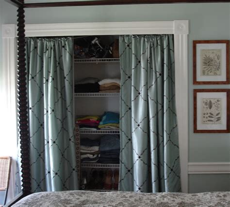 Curtains Instead Of Closet Doors Closet Door Curtains Instead Home Design Ideas
