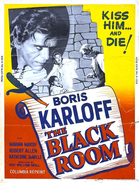 The Black Room 1935 poster for the black room 1935 usa wrong side of the