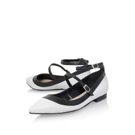 Black And White Flat Shoes shoes monochrome black and white strappy flats patent