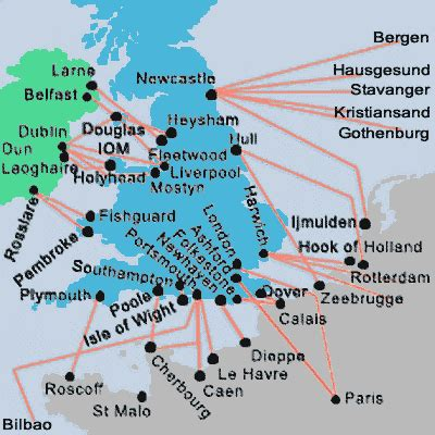 map uk ferry routes map ferries uk