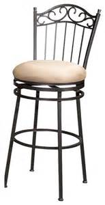 metal bar stools swivel with back swivel bar stool with scrolled metal back and