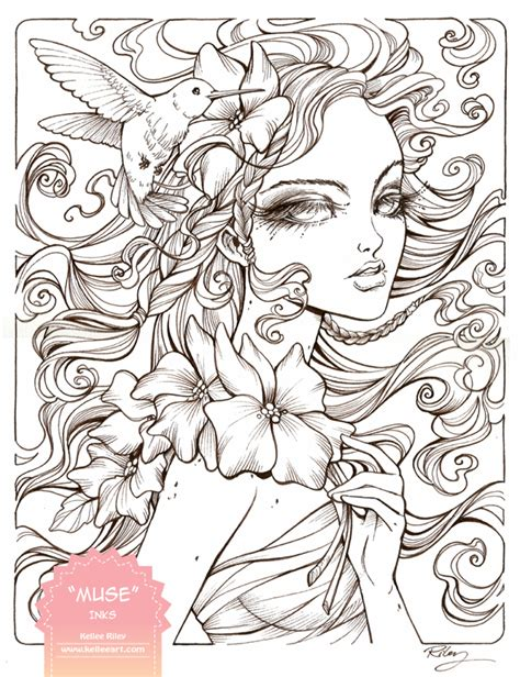 drawing and painting for adults muse inks by kelleeart on deviantart