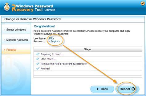 windows password reset gui windows password recovery tool screenshots interface