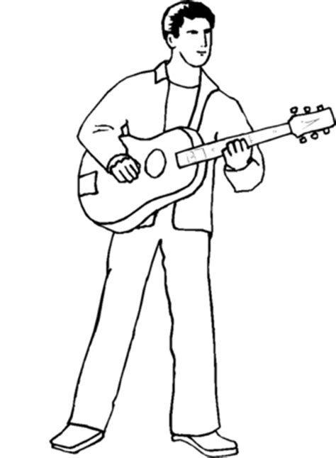 guitar player coloring page guitar player coloring page coloring pages