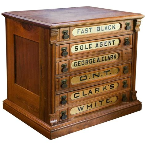 Clark Cabinets by Antique Clark S Six Drawer Spool Cabinet At 1stdibs