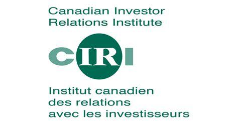 cineplex investor relations ciri recognizes three distinguished investor relations