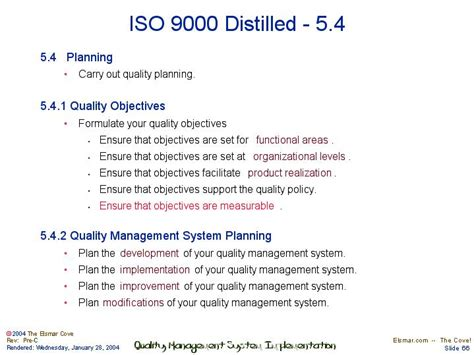 iso 9001 distilled 5 4 planning