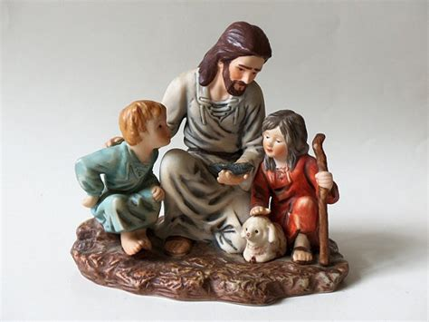 home interior jesus figurines vintage porcelain fisherman figurine jesus homco by