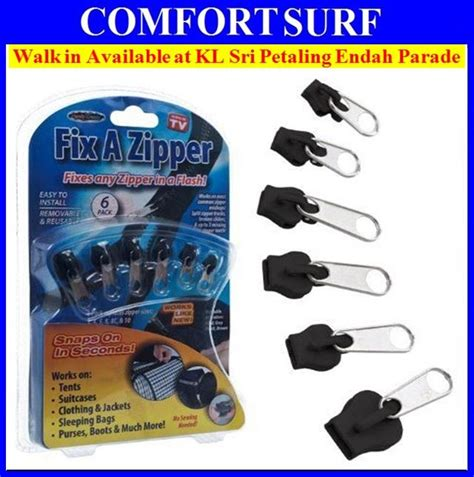 Fix A Zipper Replacement Repair Kit 6 In 1 Resleting Fix 6pcs fix a zipper rescue broken slid end 10 1 2017 9 17 pm