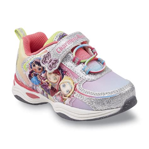 girls light up tennis shoes nickelodeon s little charmers purple pink