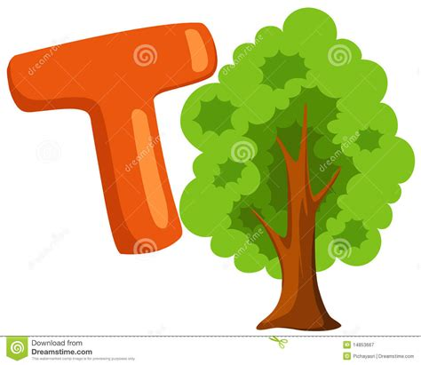 t is for tree a letter of the week preschool craft alphabet t for tree stock vector image of character