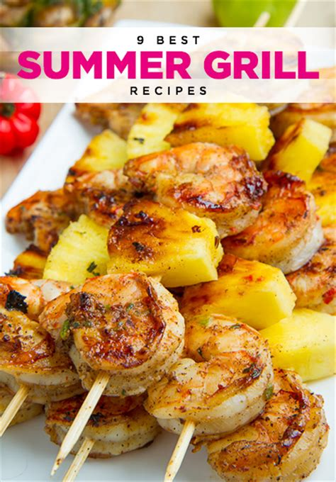 grilled jerk shrimp and pineapple skewers recipe easy grill recipes and jerk shrimp