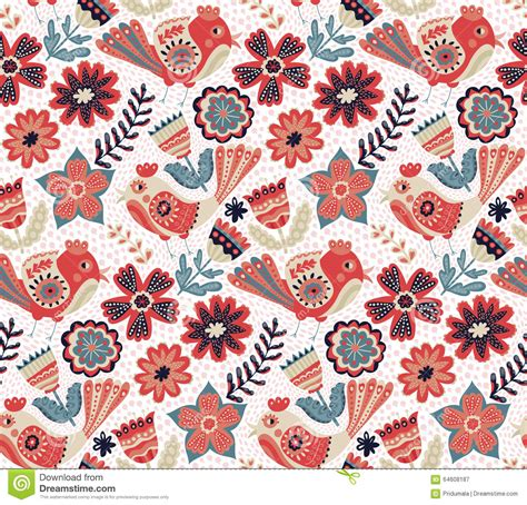 svg pattern not showing vector flower pattern seamless botanic texture stock