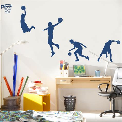 sports wall stickers for bedrooms basketball player in wall decals stickers graphics