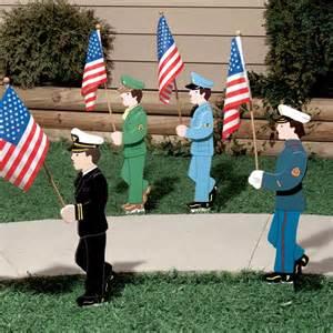 lawn military stake military stakes military decor