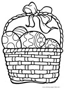easter basket coloring pages easter basket outline clipart best
