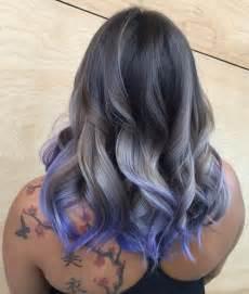 salt and pepper hair with brown lowlights salt and pepper hair with purple highlights dark brown hairs