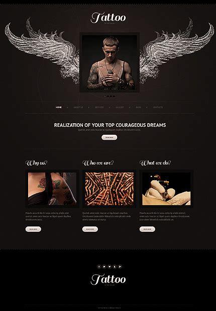 tattoo designs website templates darkness that feeds your mind 20 black joomla layouts
