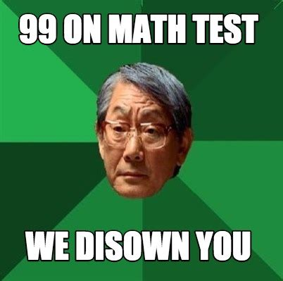 Meme Creator Online - meme creator 99 on math test we disown you