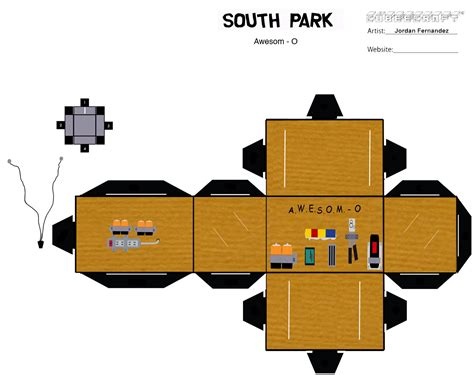 South Park Papercraft - awesome o cubee template 2 by jordof131 on deviantart