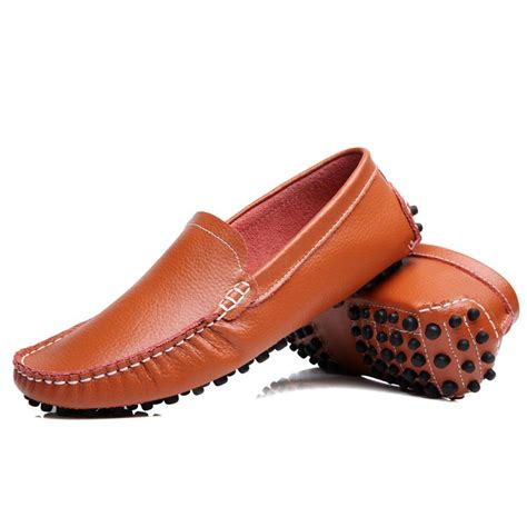 most comfortable mens slip on shoes stitching leather casual shoes brogue manual comfortable