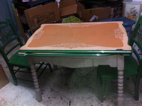 ebay kitchen table green enamel table wood legs 1950s retro kitchen table