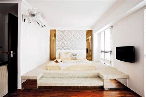 Japanese Inspired Bedroom hdb flat with an effortlessly stylish classical look