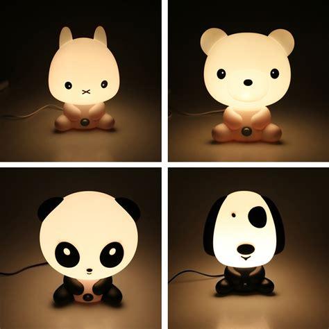 Novelty Pvc Plastic Baby Bedroom Night Light Cartoon Animal Lights
