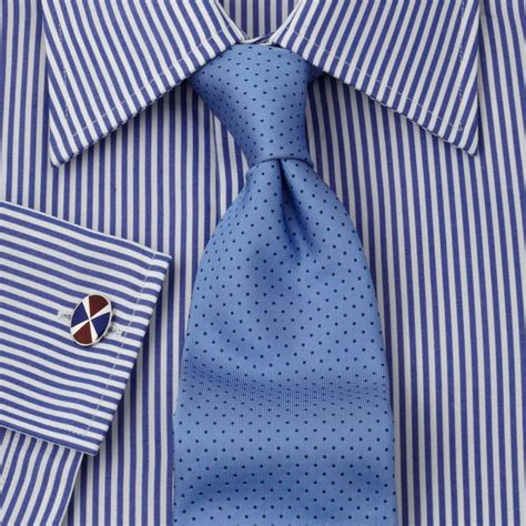 Stripe Black Three Tone 1 striped shirt blue tie great knot with a dimple stripes and a necktie of dots with great