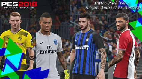 tattoo pack pes 2018 pes 2018 tattoo pack vol 2 by sofyan andri pes patch
