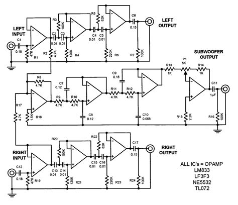 image gallery subwoofer schematic