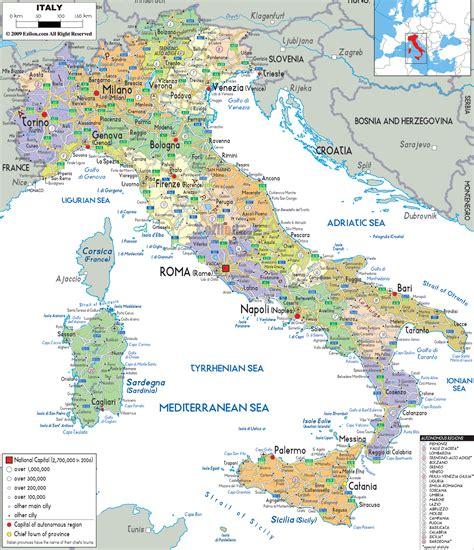 map of italy political map of italy ezilon maps