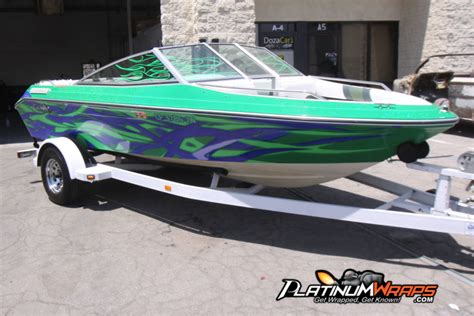 boat wraps pics in or out of the water a boat wrap with custom graphics