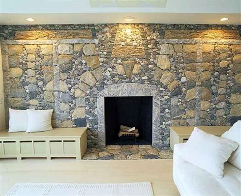 river rock fireplace nifty homestead