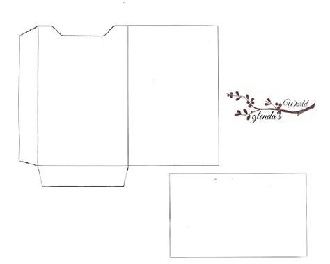 card sleeve template glenda s world gift card sleeve with card